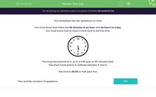 'Time Quiz' worksheet