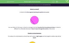 'Apply Chords and Radii' worksheet