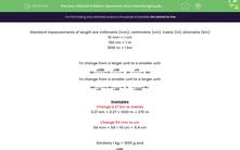 'Standard Metric Measures and Interchanging Between Them' worksheet