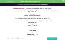 'Write Numbers in Standard Form' worksheet