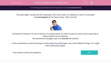 'Understand Verb Prefixes: Over- 2' worksheet