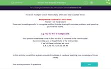 'Find Multiples of Numbers' worksheet