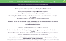 'SATs Mathematics Reasoning Paper 2 in the Style of the Key Stage 2 National Tests (Practice 2)' worksheet