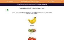 'Spell Nouns Ending in Vowels' worksheet
