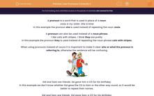 'Use Pronouns Correctly 2' worksheet
