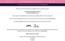 'Identify Homonyms as Verbs or Nouns' worksheet