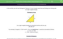 'Solve Complex problems Using Pythagoras' Theorem' worksheet