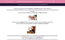 'Understand Rhyming Synonyms and Antonyms' worksheet