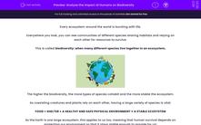 'Analyse the Impact of Humans on Biodiversity' worksheet