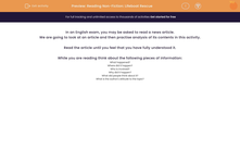 'Reading Non-Fiction: Lifeboat Rescue' worksheet