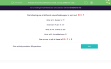 'Know Your Division: Same Answer, Different Calculation' worksheet