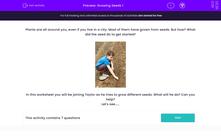 'Growing Seeds 1' worksheet
