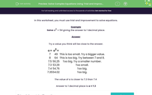 'Solve Complex Equations Using Trial and Improvement' worksheet
