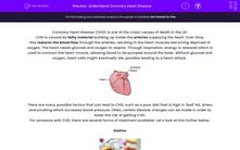 'Understand Coronary Heart Disease' worksheet
