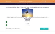 'Know Your Prefixes: aero-' worksheet