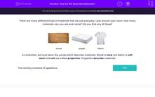'How Do We Describe Materials?' worksheet