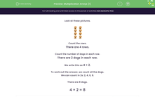 'Multiplication Arrays (1)' worksheet