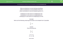 'Dividing Fractions (2)' worksheet