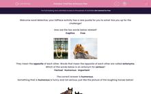 'Find the Antonym Pair' worksheet