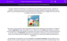 'Understand Sampling techniques' worksheet