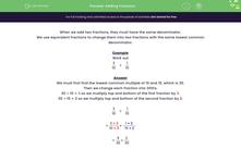 'Adding Fractions' worksheet