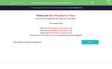 'Measuring Time: Counting the Minutes (1)' worksheet
