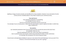 'Revise Common Spelling Errors 2' worksheet