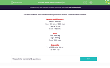 'More Measurements (2)' worksheet