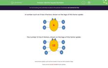 'Identify Square Numbers' worksheet