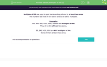 'Identify Multiples of 100 (2)' worksheet