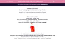 'Create number codes using multiple words' worksheet