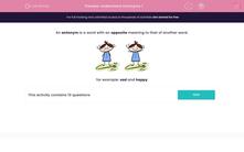 'Understand Antonyms 1' worksheet