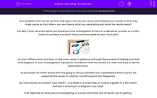 'Recording Your Results 1' worksheet