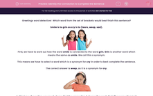 'Identify the Connection to Complete the Sentence' worksheet