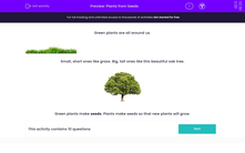 'Plants from Seeds' worksheet
