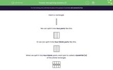 'Recognising Quarters (1)' worksheet