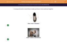 'Investigate Compound Words 1' worksheet