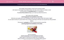 'Identify Context-based Jumbled Words' worksheet