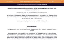 'Reading Non-Fiction: Comparison' worksheet
