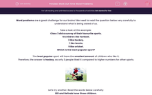 'Work Out Time Word Problems' worksheet