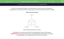 'Interpret Plans and Elevations' worksheet