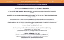 'SATs Spelling Practice Paper 3' worksheet