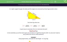 'Mixed Trigonometry Questions' worksheet