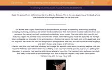 'Reading Fiction: A Christmas Carol (a Description of Scrooge)' worksheet