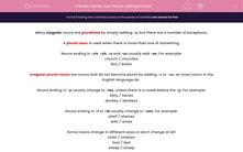'Revise Your Nouns: Making Plurals' worksheet