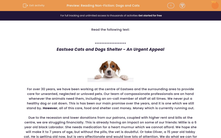 'Reading Non-Fiction: Dogs and Cats' worksheet
