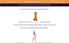 'Complete a Sentence' worksheet