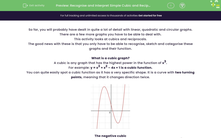 'Recognise and Interpret Simple Cubic and Reciprocal Graphs' worksheet