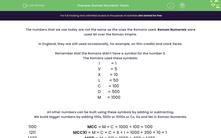 'Roman Numeral: Years' worksheet