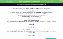 'Round Decimals to One Decimal Place' worksheet
